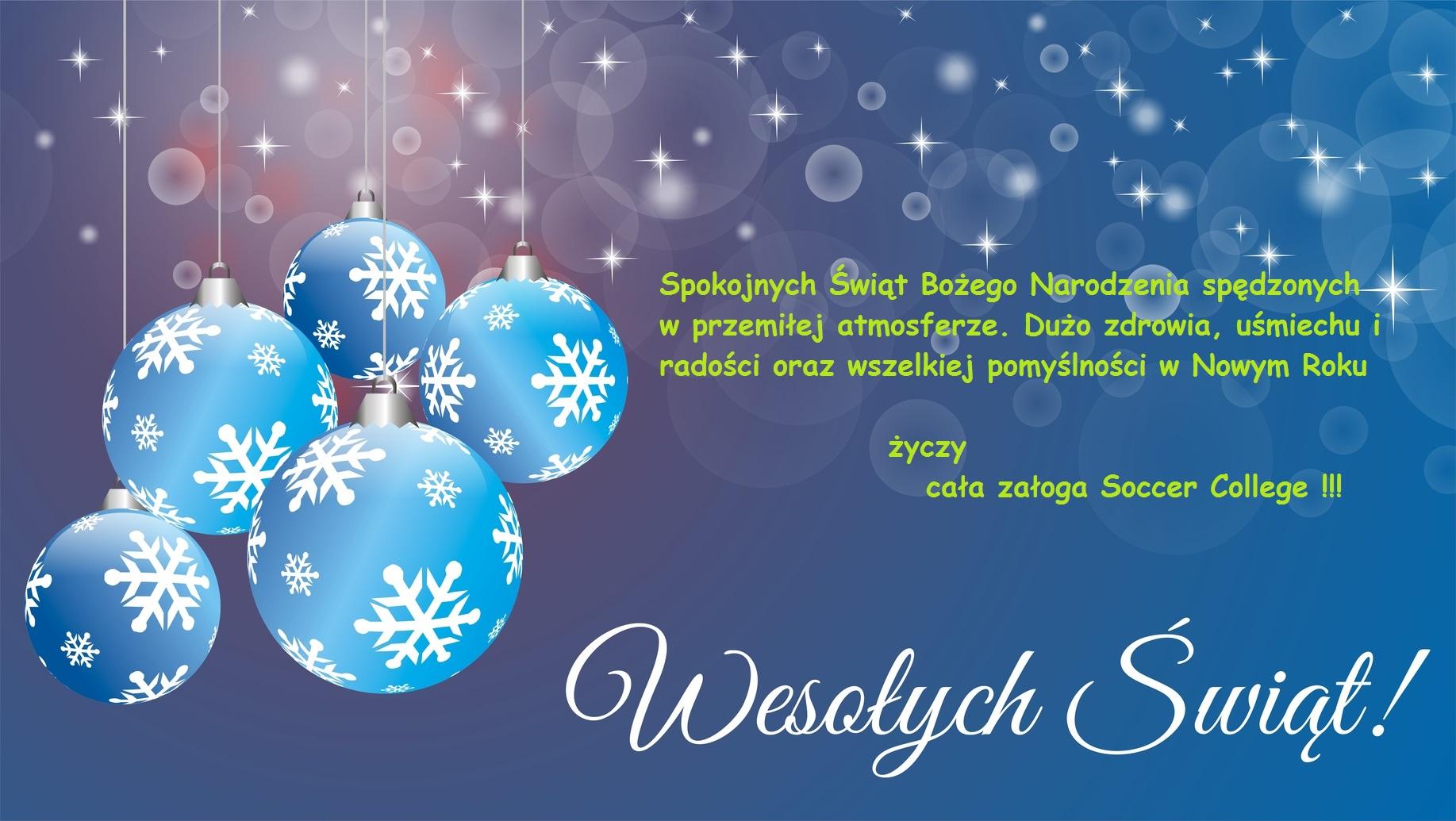 Wesołych Świąt życzenia